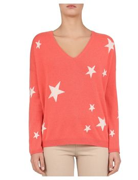 Jade Star Pattern Cashmere Sweater by Gerard Darel