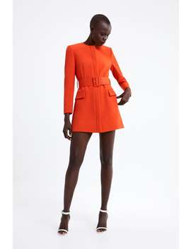 Belted Frock Coat  View All Dresses Woman by Zara