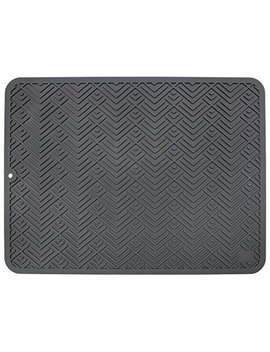 "Sts 595601 Heavy Duty Silicone Drying Mat Large 12"" X 16"" Gray by Sts"