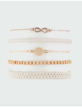 Full Tilt 5 Pack Infinity & Braid Bracelets by Full Tilt