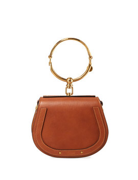 Nile Small Bracelet Crossbody Bag, Camel by Chloe