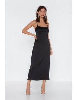 Cami Slip Midaxi Dress In Plain by Nasty Gal