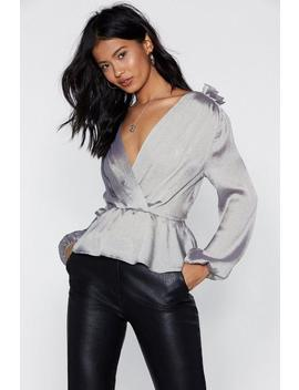 Down Play It Satin Top by Nasty Gal
