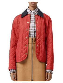 Heritage Diamond Quilted Jacket by Burberry