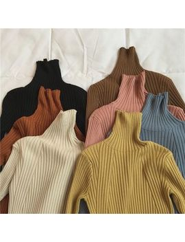 Miss Muzi   Turtleneck Sweater by Miss Muzi