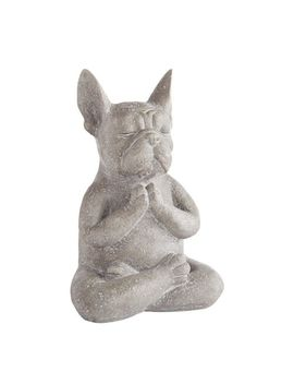 Modern French Bulldog Yoga Dog Statue by Pier1 Imports