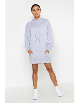 Oversized Hooded Pocket Sweat Dress by Boohoo