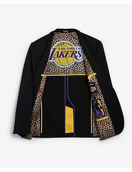 Slim Los Angeles Lakers Nba Performance Stretch Blazer by Express
