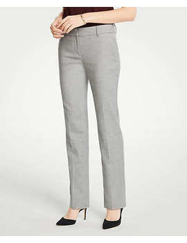 The Petite Straight Leg Pant In Flannel   Curvy Fit by Ann Taylor