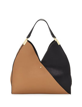 Allie Two Tone Tote Bag by Neiman Marcus