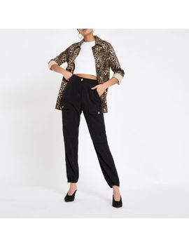 Black Hailey Utility Pants by River Island
