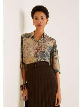 Skjorte Med Trykk by Mango
