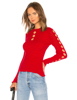 Fitted Lacehole Sweater by Kenzo