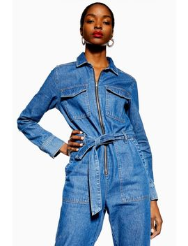 Tall Denim Utility Boiler Suit by Topshop