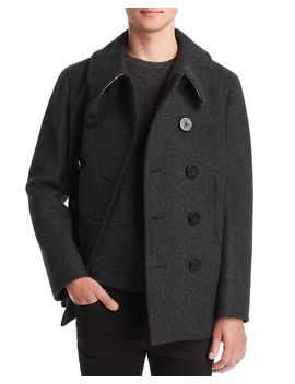 Claythorpe Double Breasted Peacoat by Burberry