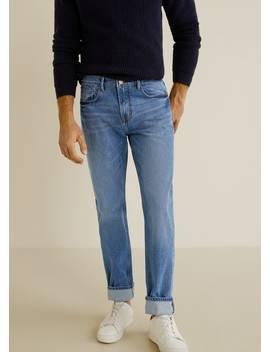 Jeans Bob Regular Fit Lavado Medio by Mango