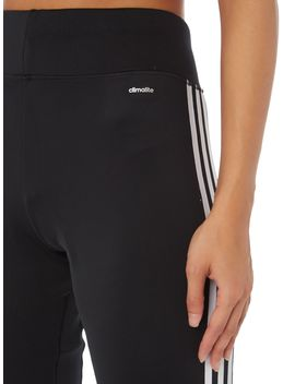 3 Stripe Cuffed Tracksuit Bottoms by Adidas