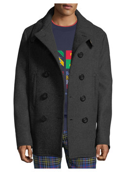 Men's Claythorpe Double Breasted Wool Coat by Burberry