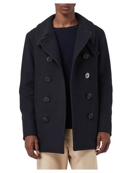 Men's Claythorpe Contrast Face Pea Coat by Burberry