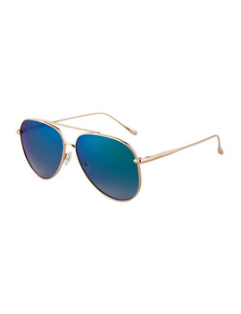 Nala Mirrored Aviator Sunglasses by Diff Eyewear