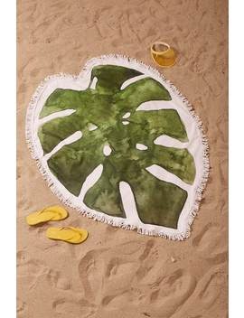 Leaf Print Beach Towel by Forever 21