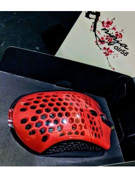 Finalmouse Air58 Ninja   Cherry Blossom Red Gaming Final Mouse *In Hand* by Final Mouse