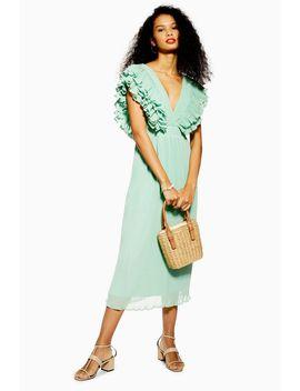 Ruffle Pleated Midi Dress by Topshop