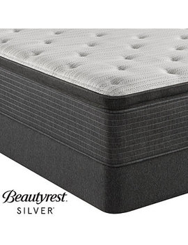 "Brs900 Tss 14.75"" Medium Firm Pillow Top Mattress Set   Queen With Adjustable Base, Created For Macy's by Beautyrest Silver"