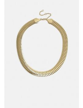 Gold Look Snake Chain Necklace by Missguided