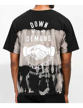 Lurking Class By Sketchy Tank Down With My Demons Tie Dye T Shirt by Lurking Class By Sketchy Tank