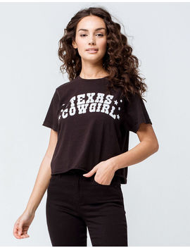 Full Tilt Texas Girl Black Womens Crop Tee by Full Tilt