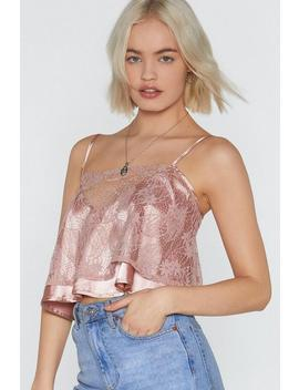 Kiss Me Lace Cami Top by Nasty Gal