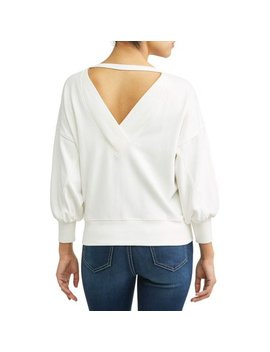 Open Back Sweatshirt Women's by Sofía Jeans By Sofía Vergara