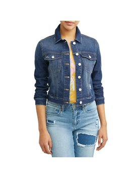 Marianella Soft Stretch Washed Denim Jacket Women's (Medium Indigo Wash) by Sofía Jeans By Sofía Vergara