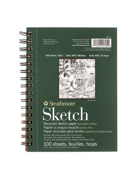 "Strathmore 5.5"" X 8.5"" Wire Bound Recycled Sketch Pad by Strathmore"