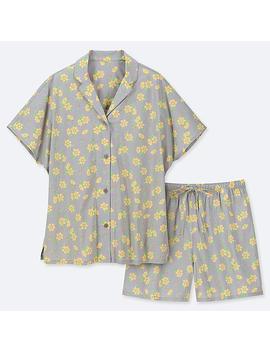 Women Soft Stretch Short Sleeve Pajamas by Uniqlo