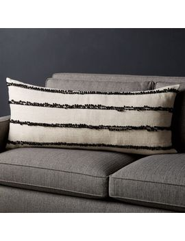 "Botet Pom Pom Lumbar Pillow 36""X16"" by Crate&Barrel"