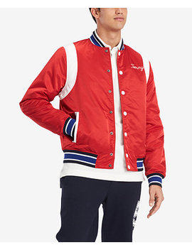 Men's Varsity Bomber Jacket, Created For Macy's by Tommy Hilfiger