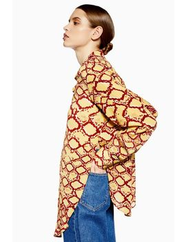 **Mixed Snake Print Silk Shirt By Boutique by Topshop