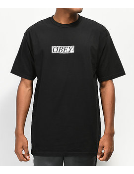 Obey Philosophy Black T Shirt by Obey