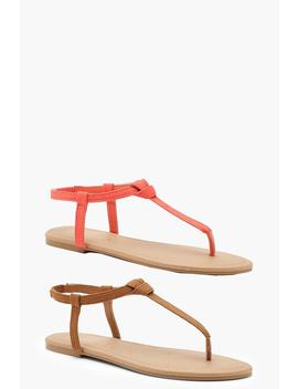 2 Pack Basic Toe Post Sandals by Boohoo