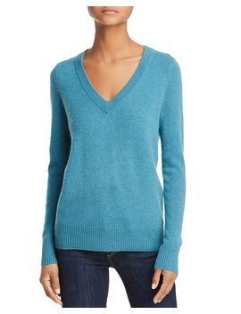 V Neck Cashmere Sweater   100% Exclusive by Aqua Cashmere