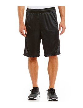 """Big &Amp; Tall Layup 2.0 Pinstripe Knit Jacquard 11"""" Inseam Basketball Shorts by Nike"""