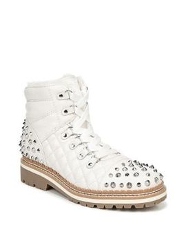 Bren Embellished Lace Up Boots by Sam Edelman