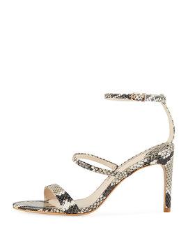 Rosalind Snake Embossed Strappy Sandals by Sophia Webster