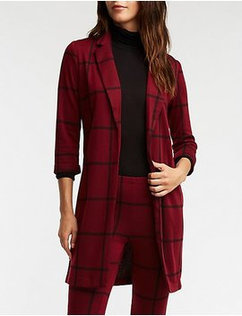 Windowpane Knit Duster by Charlotte Russe
