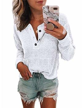 famulily-womens-henley-shirts-long-sleeve-button-down-tops-casual-knit-sweater-blouse by famulily