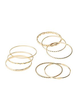 Stackable Bangle Bracelets   8 Pack by Charlotte Russe
