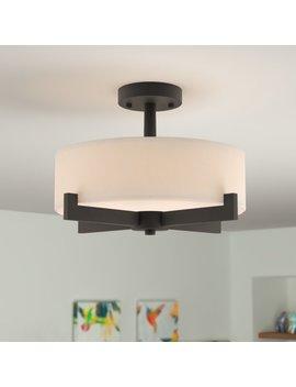 Jerrod 3 Light Semi Flush Mount by Zipcode Design