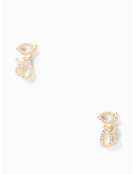 Jazz Things Up Pave Cat Studs by Kate Spade
